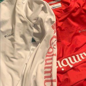 Columbia Omni-shade LS shirts